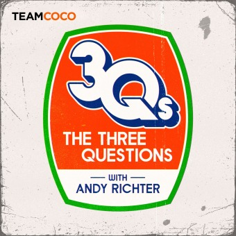 The Three Questions with Andy Richter podcast artwork