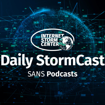 SANS Internet Stormcenter Daily Network/Cyber Security and Information Security Stormcast podcast artwork