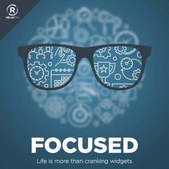 Focused podcast artwork